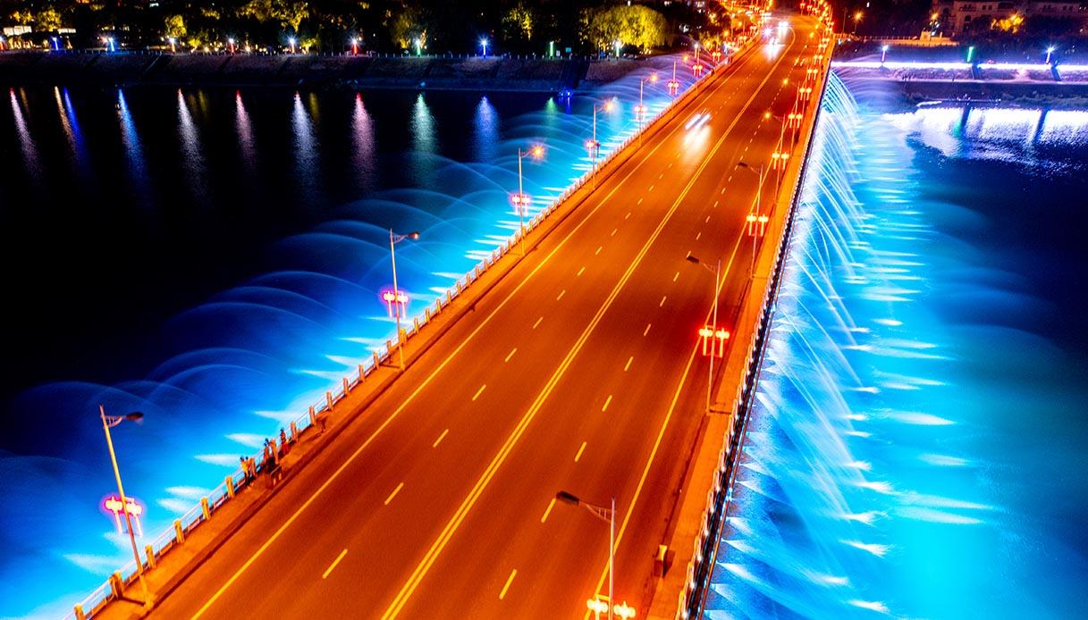 Music fountain bridge, Yongji