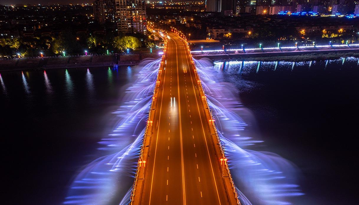 yongji music fountain bridge