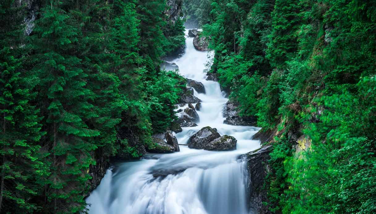 Le cascate di Riva in Valle Aurina