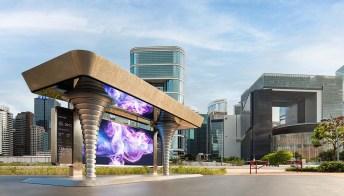 Le fermate degli autobus in Cina diventano capolavori futuristici e sostenibili