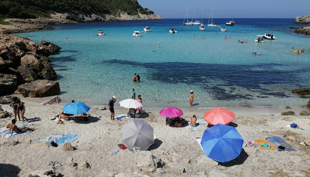 Una delle spiagge più belle di Palma di Maiorca