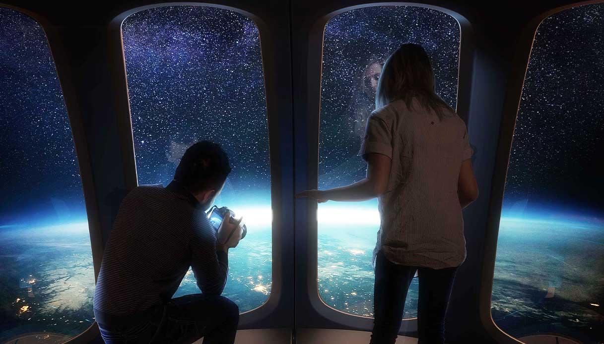 Viaggiare nello spazio a bordo di una mongolfiera