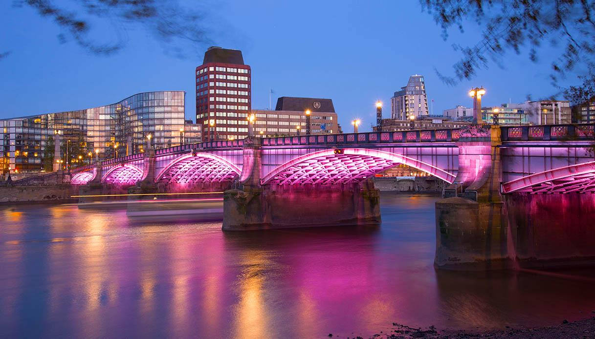 Illuminated River Lambeth Bridge