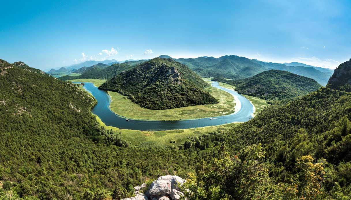 Llago più grande Balcani Scutari Podgorica