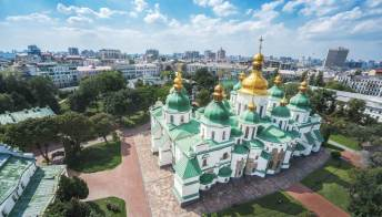Le meraviglie della coloratissima cattedrale di Santa Sofia a Kiev