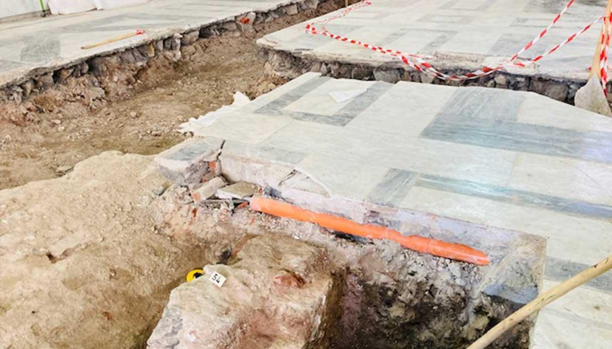 Gli scavi nel cantiere del museo di Genova