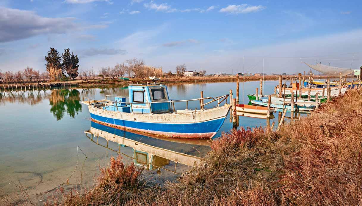 Barche nel porto di Ravenna