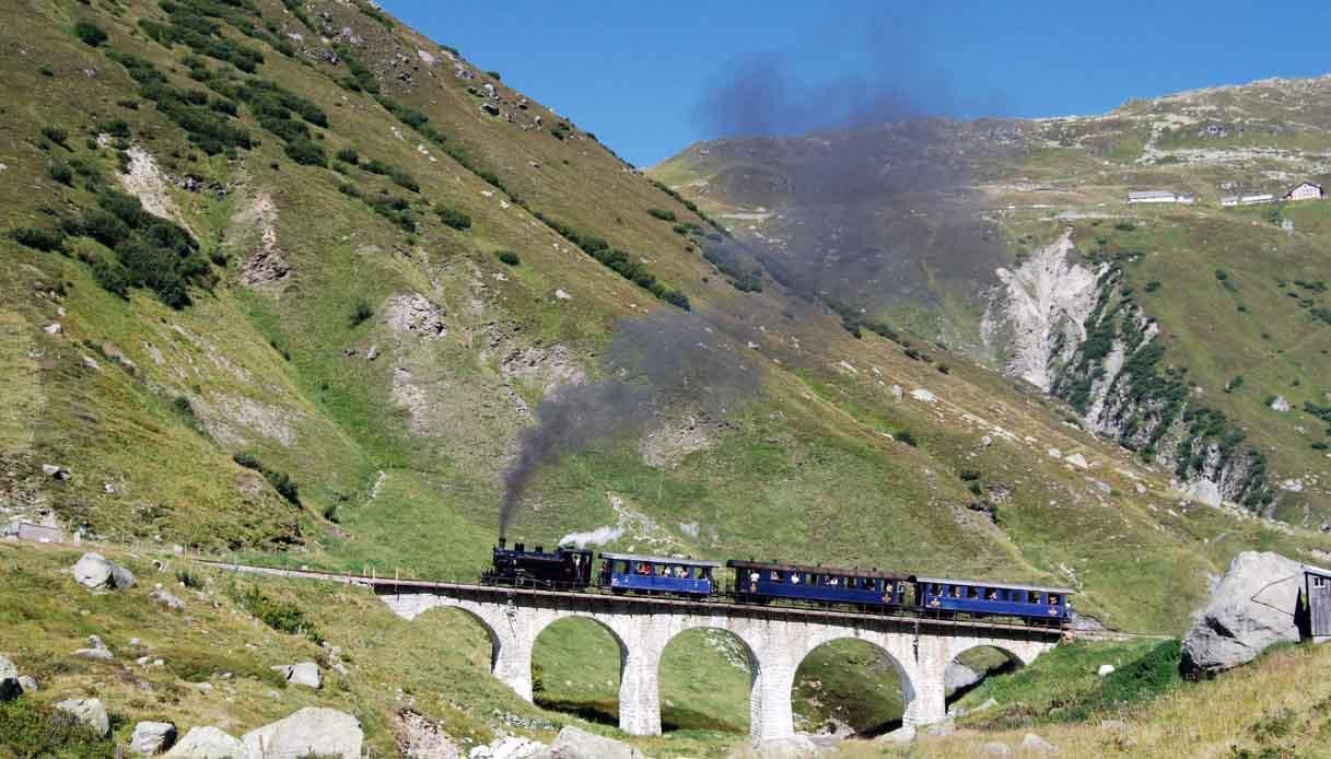 treno a vapore furka