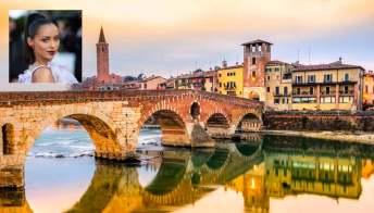 """Verona, set del film """"Love in the Villa"""" di Netflix"""