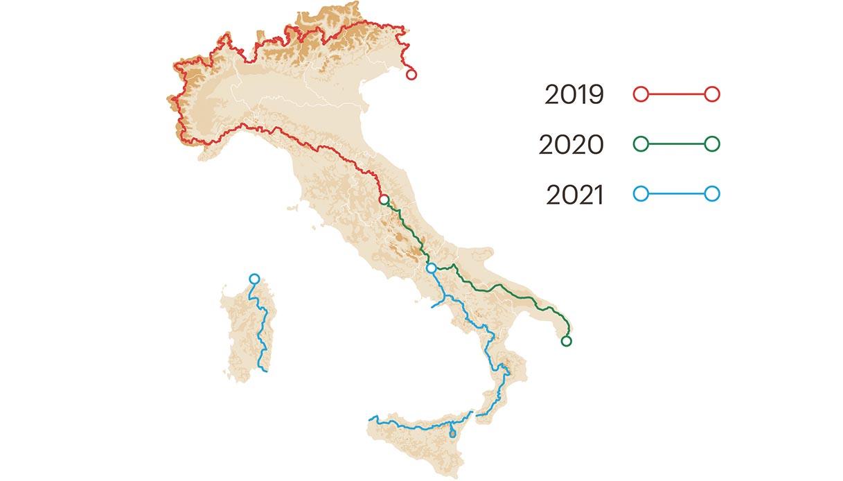 Mappa percorso totale